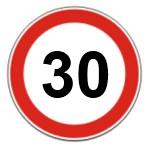 Limite de velocidade em vias de acesso local