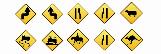 Placas de Advertência no Trânsito