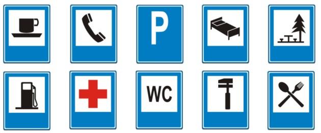 Placas de Serviços auxiliares no Trânsito brasileiro