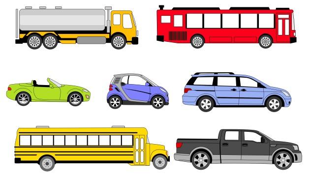 Os veículos são classificados por tração, espécie e categoria