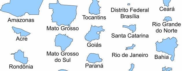 Relação dos estados federados do Brasil