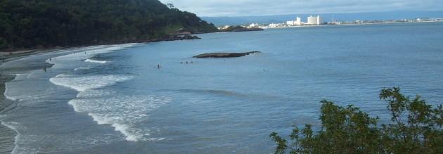 Praia de Peruibe no Litoral Sul do Estado de São Paulo
