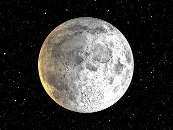 Lua gira em torno da Terra