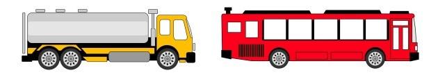 onibus caminhão transporte terrestre