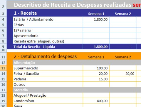 planilha financeira receitas e despesas