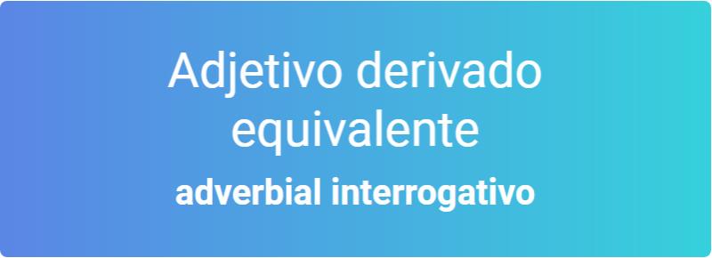 adjetivo derivado e equivalente