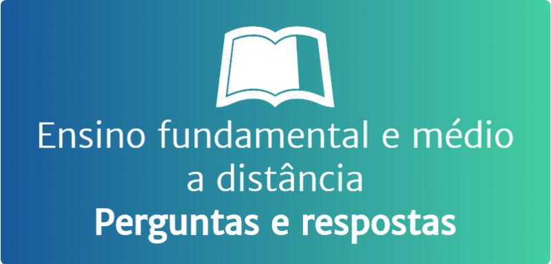 Ensino fundamental e médio a distancia