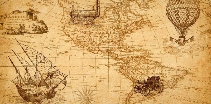 Mapa história