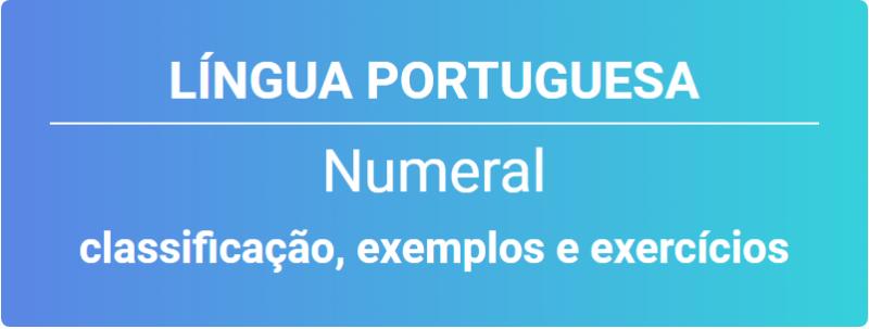 Exemplos de numeral